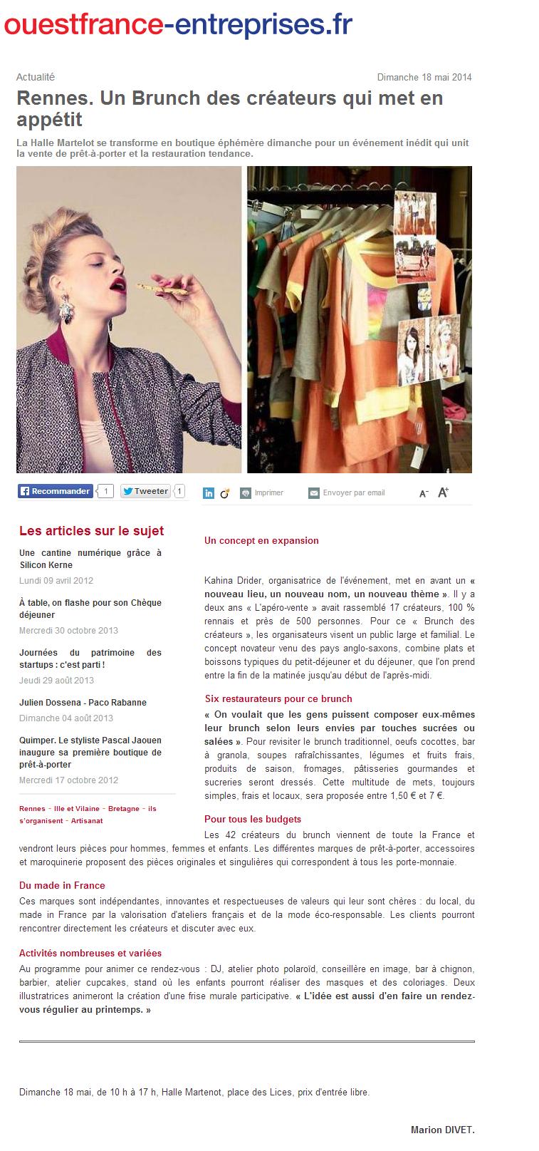 Ouest-France-entreprises.fr - mai 2014