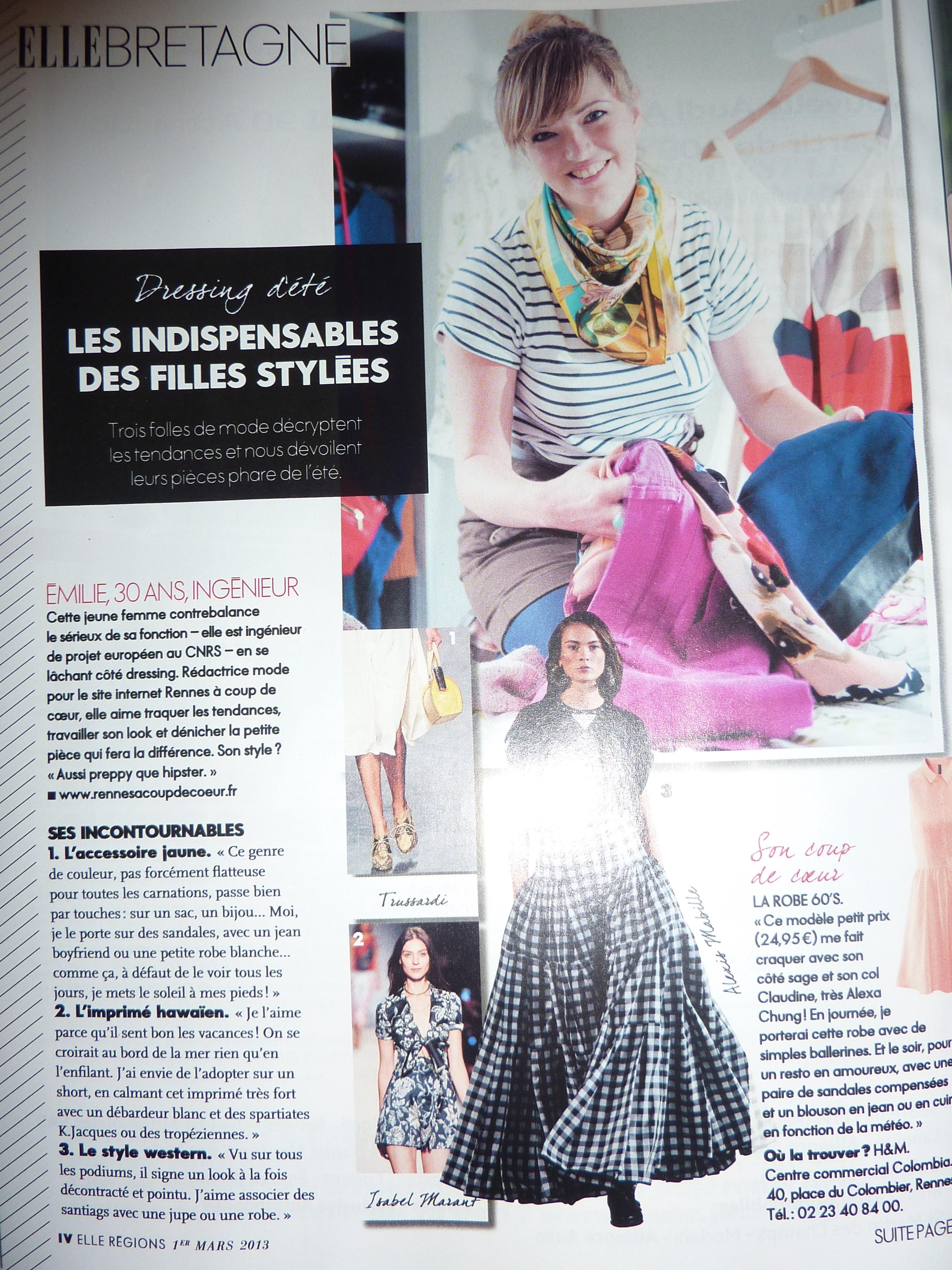 Elle Bretagne - Mars 2013