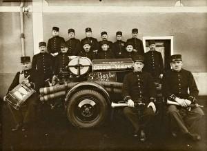 Pompiers de Cesson-Sévigné - 1936 © musée de Bretagne