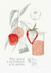 Thé glacé fraise & pêche - Tea & Ty