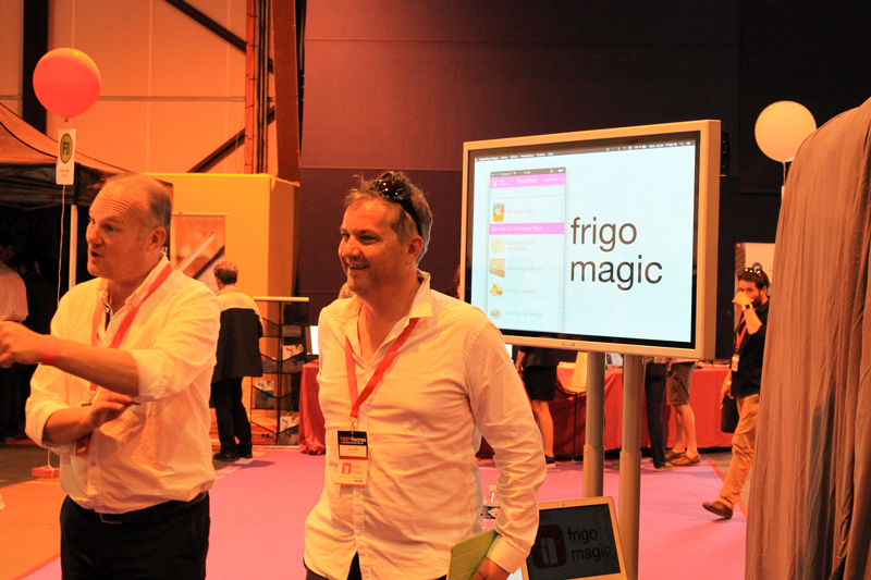 Christophe et Sébastien, initiateurs du projet Frigo Magic au Ted x Rennes 2015
