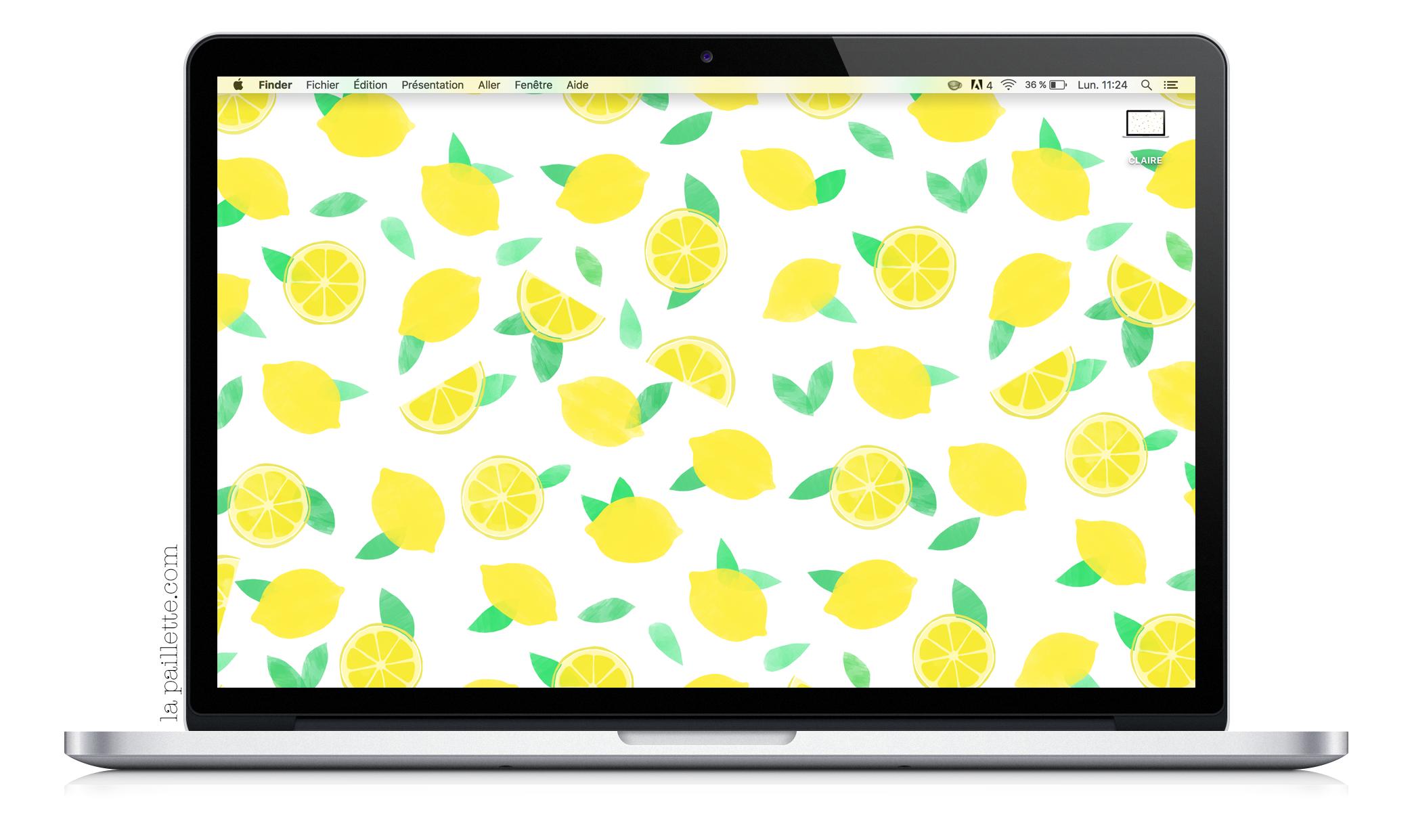 Claire la paillette blog rennes illustratrice fond ecran citrons